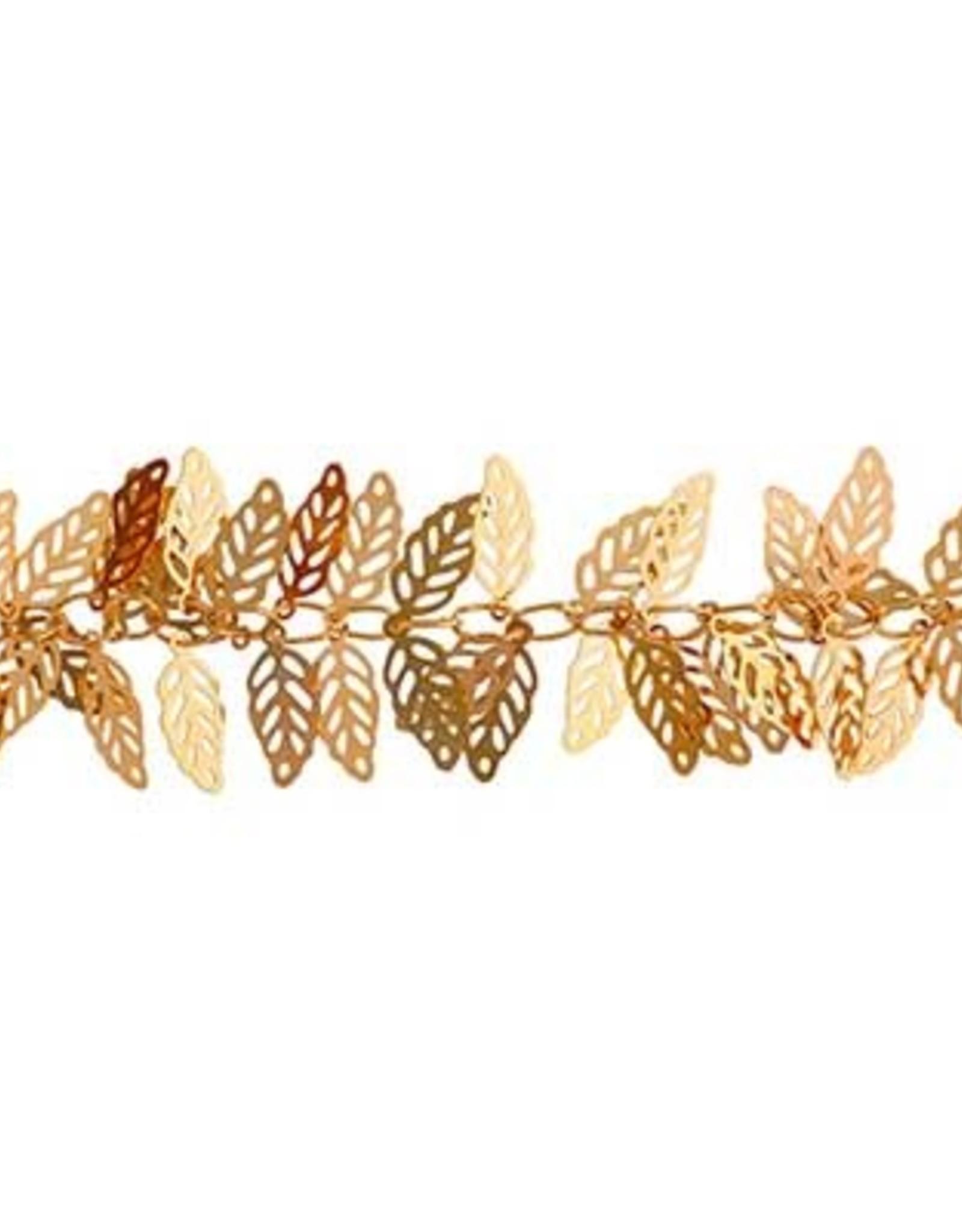 Brass Metal Chain 5x12 mm Leave 5 meters