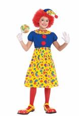 Clown Girl Kids Costume