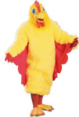 Chicken Suit Costume Yellow & Red One Size