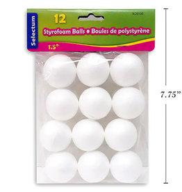 Styrofoam Ball  1.5 Inch (12 Pieces)