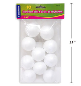 Styrofoam Ball  1.85 Inch (10 Pieces)