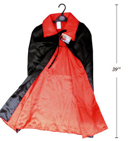 Deluxe Satin Vampire Cape with Stand up Collar