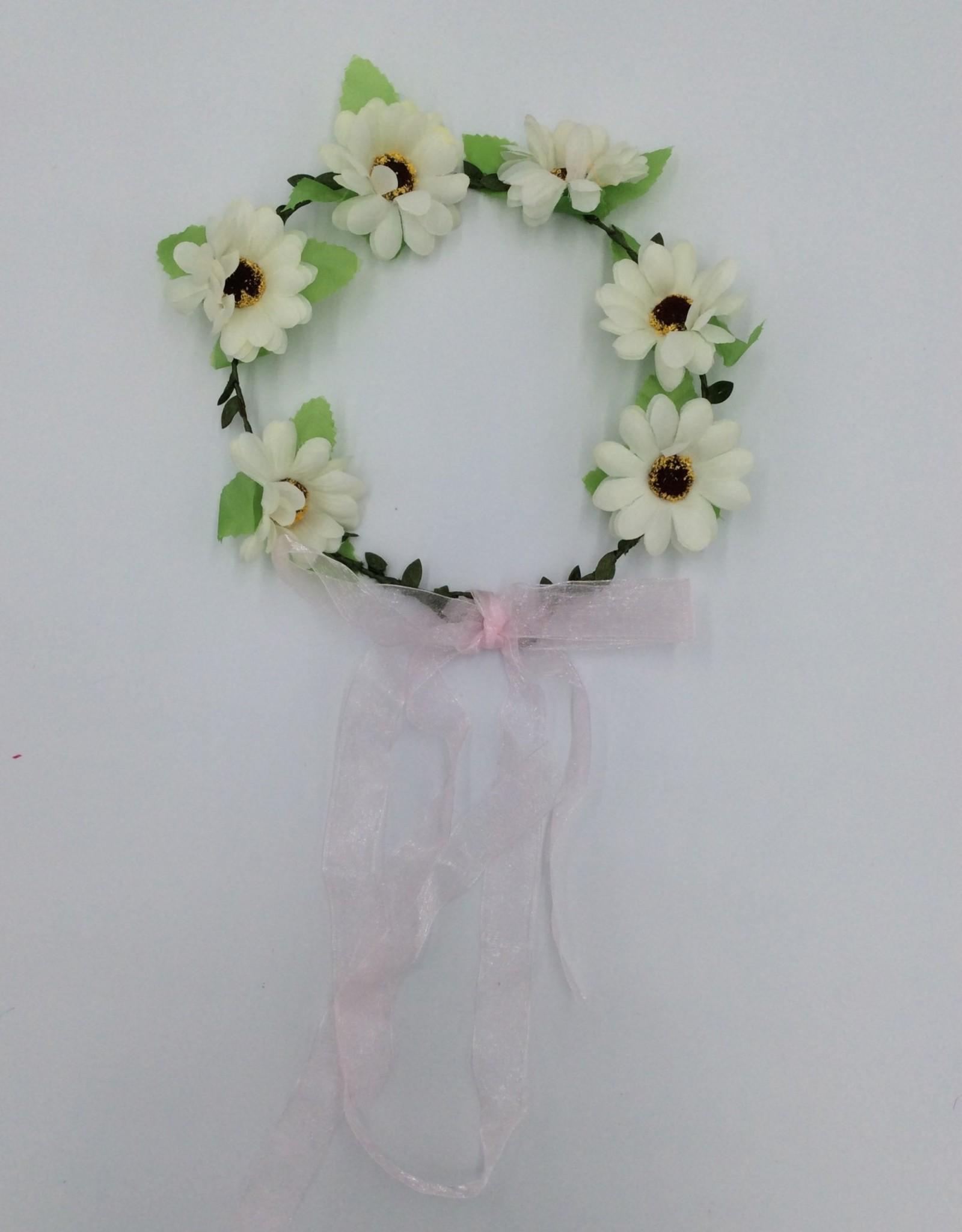 Luau Flower Headband - White Flowers