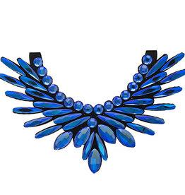 Crystal Motifs Necklace Angel