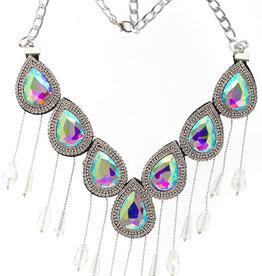 Crystal Motifs Necklace Drop