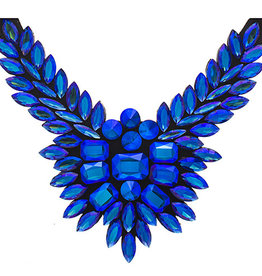 Crystal Motifs Necklace Wings