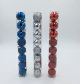 "Metallic Christmas Balls 1.5"" (8pcs)"
