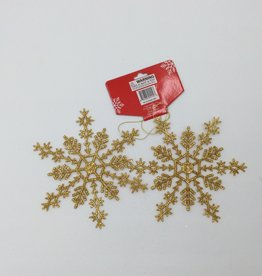 "Glitter Snowflake Ornament 6"" (2pcs)"