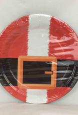 8CT Christmas Plates, Santa 7 Inches