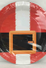 6CT Christmas Plates, Santa 9 Inches