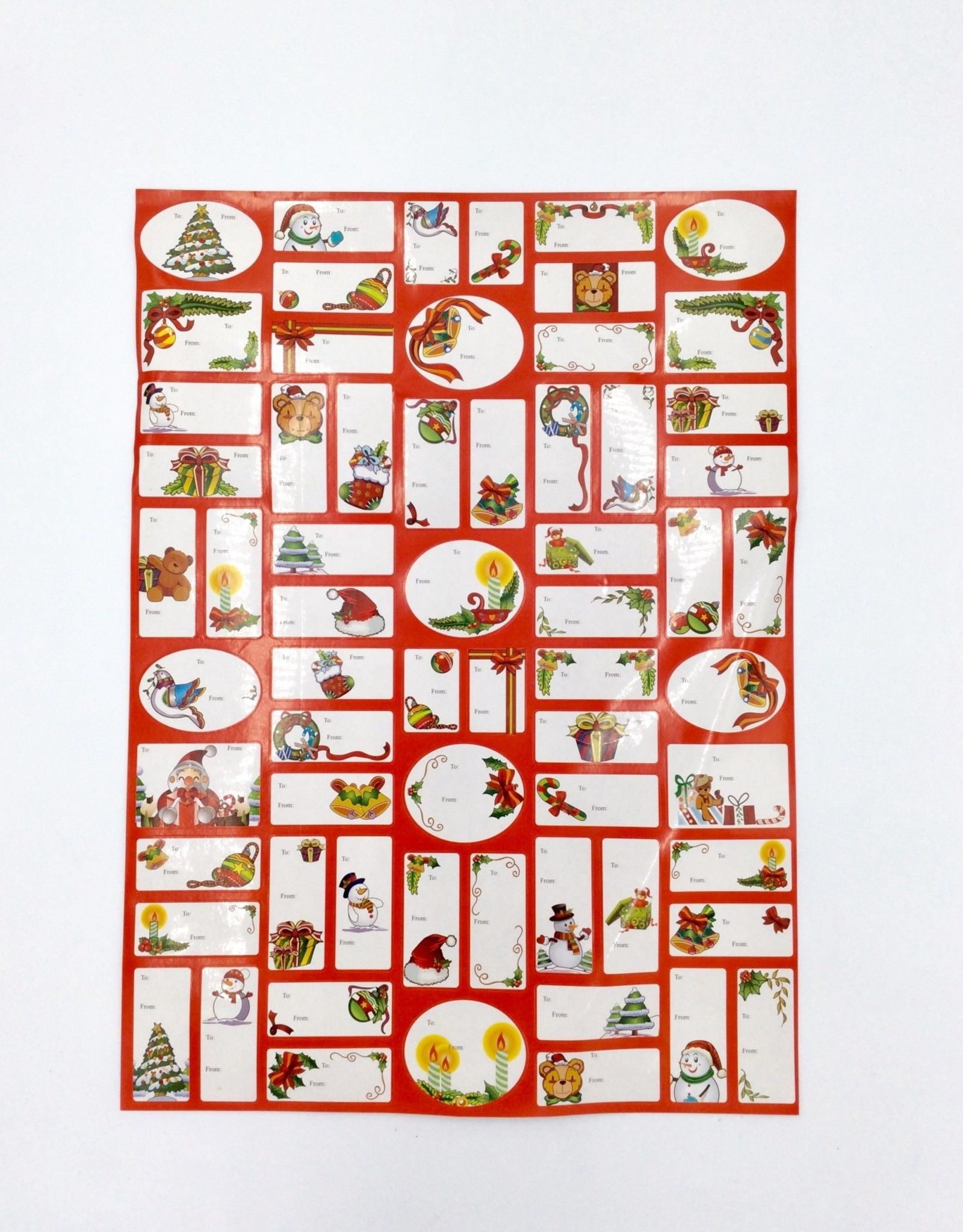 Christmas Printed Gift Tag Stickers 128ct