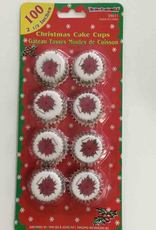Christmas Cake Cups 2.5 Inch - 100Ct