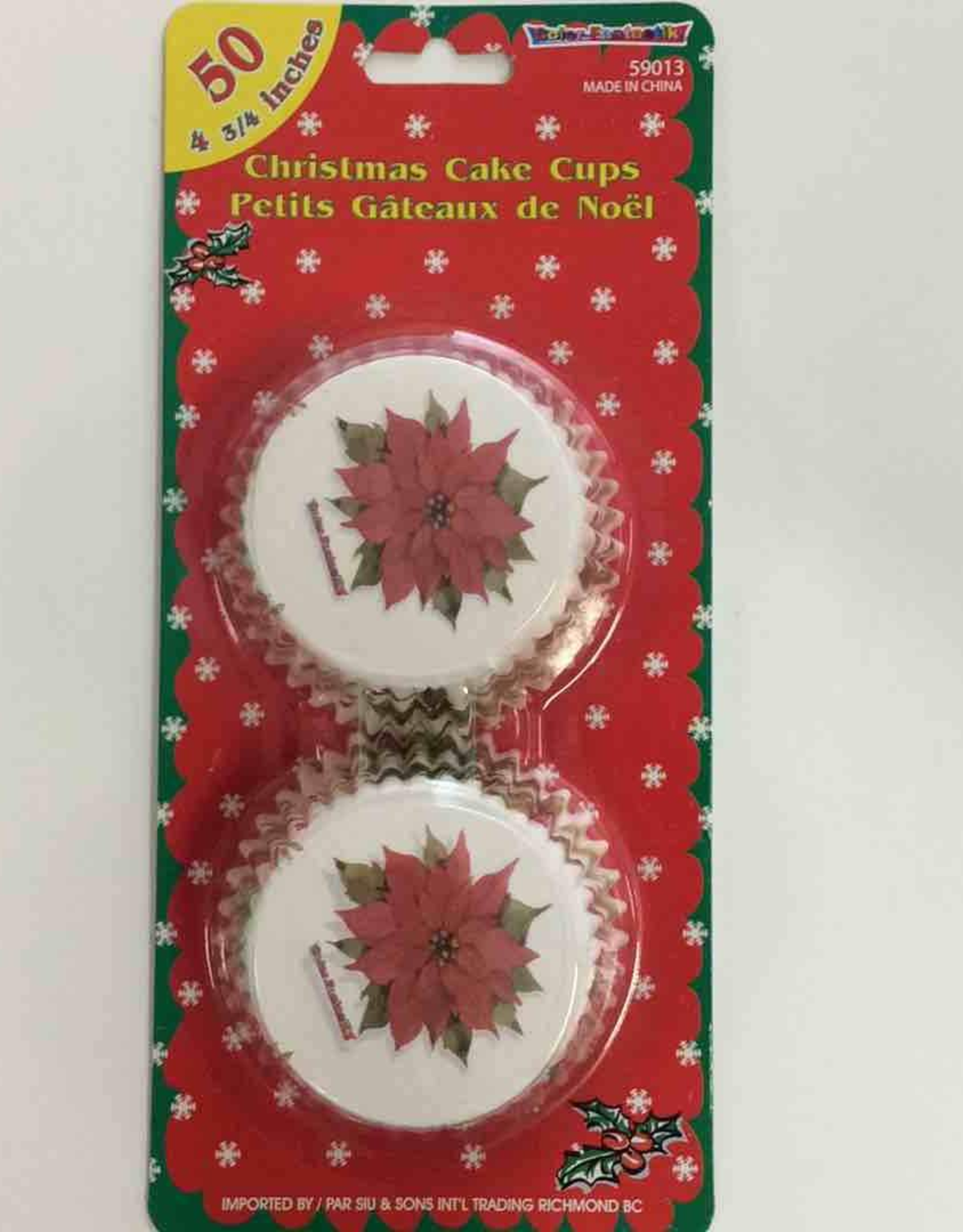 Christmas Cake Cups 3/4 Inch - 50Ct