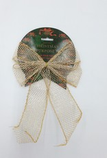Christmas Bow Gold Large (1 Piece)