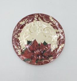 """Christmas Plates 9"""" (6pk)"""
