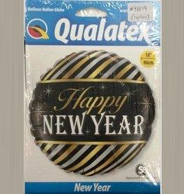 "18"" 2 Sided Printed Mylar Balloon Happy New Year"