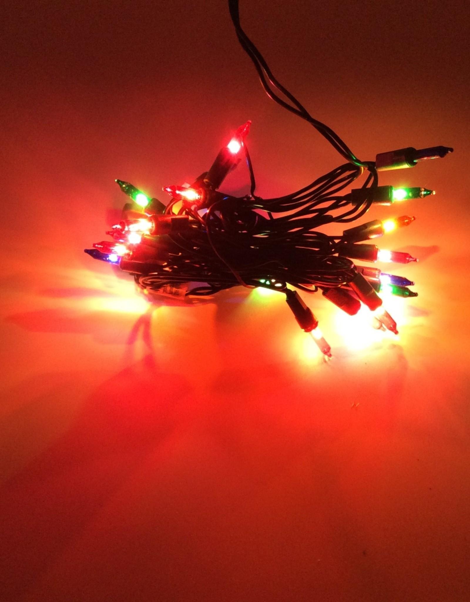50 lights Mini Indoor Lights - Multi-Colors End-To-End. Incandescent