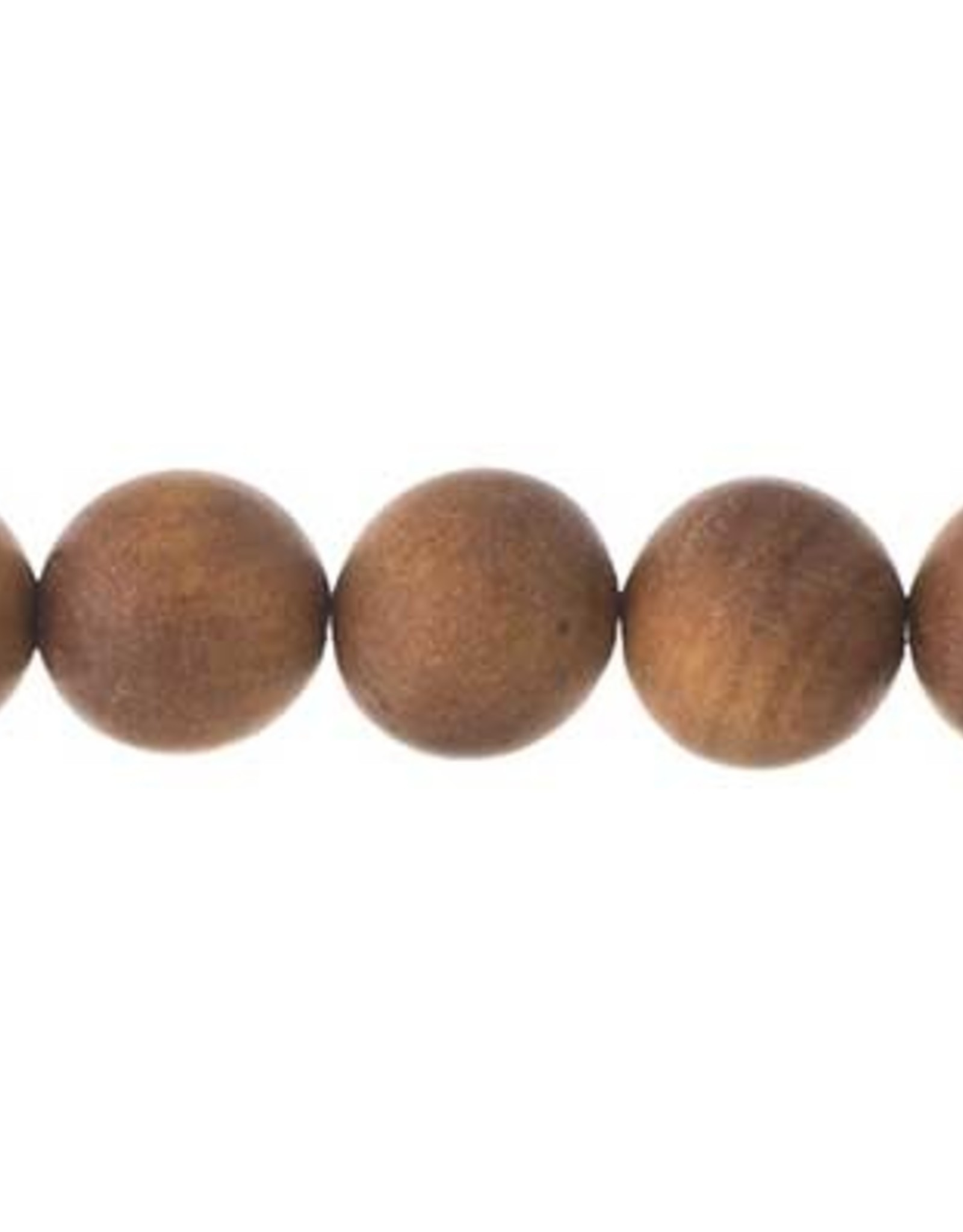 Sandlewood 8 Inches Light Brown 10mm Round