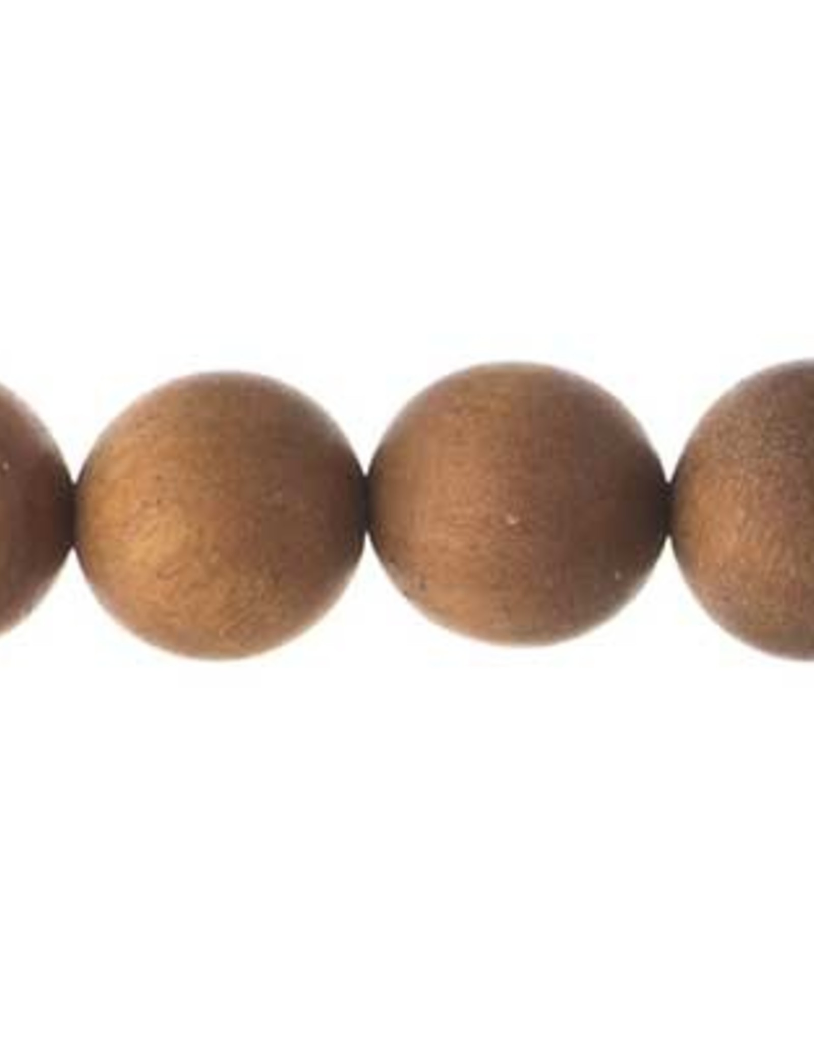 Sandlewood 8 Inches Light Brown 12mm Round