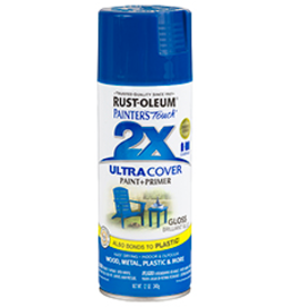 Rustoleum 2X Ultra Cover Gloss Spray Paint 12oz Brilliant Blue