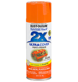 Rustoleum 2X Ultra Cover Gloss Spray Paint 12oz Real Orange