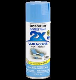 Rustoleum 2X Ultra Cover Gloss Spray Paint 12oz Spa Blue