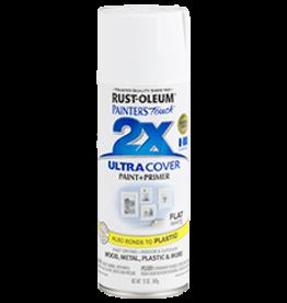 Rustoleum 2X Ultra Cover Flat Spray Paint 12oz White
