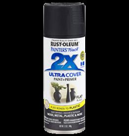 Rustoleum 2X Ultra Cover Flat Spray Paint 12oz Black