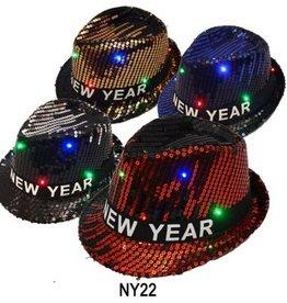 Flashing Sequin New Year Fedora