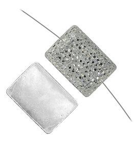 Resin Sew-on Sparkle Stone 18x25 Rectangle (50 Pieces)