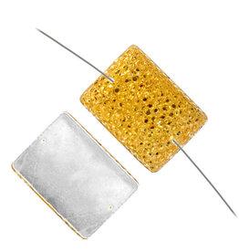 Resin Sew-on Sparkle Stone 18x25 Rectangle (10 Pieces)