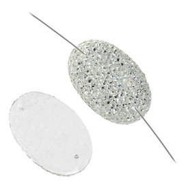 Resin Sew-on Sparkle Stone 18x25 Oval (10 Pieces)
