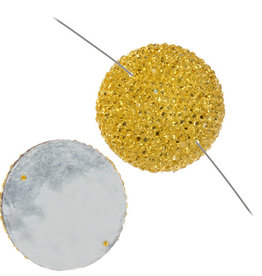 Resin Sew-on Sparkle Stone 30mm Round (10 Pieces)