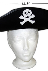 Black Pirate Hat with Skull