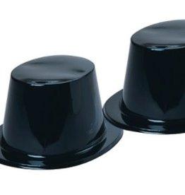 Plastic Top Hat Black