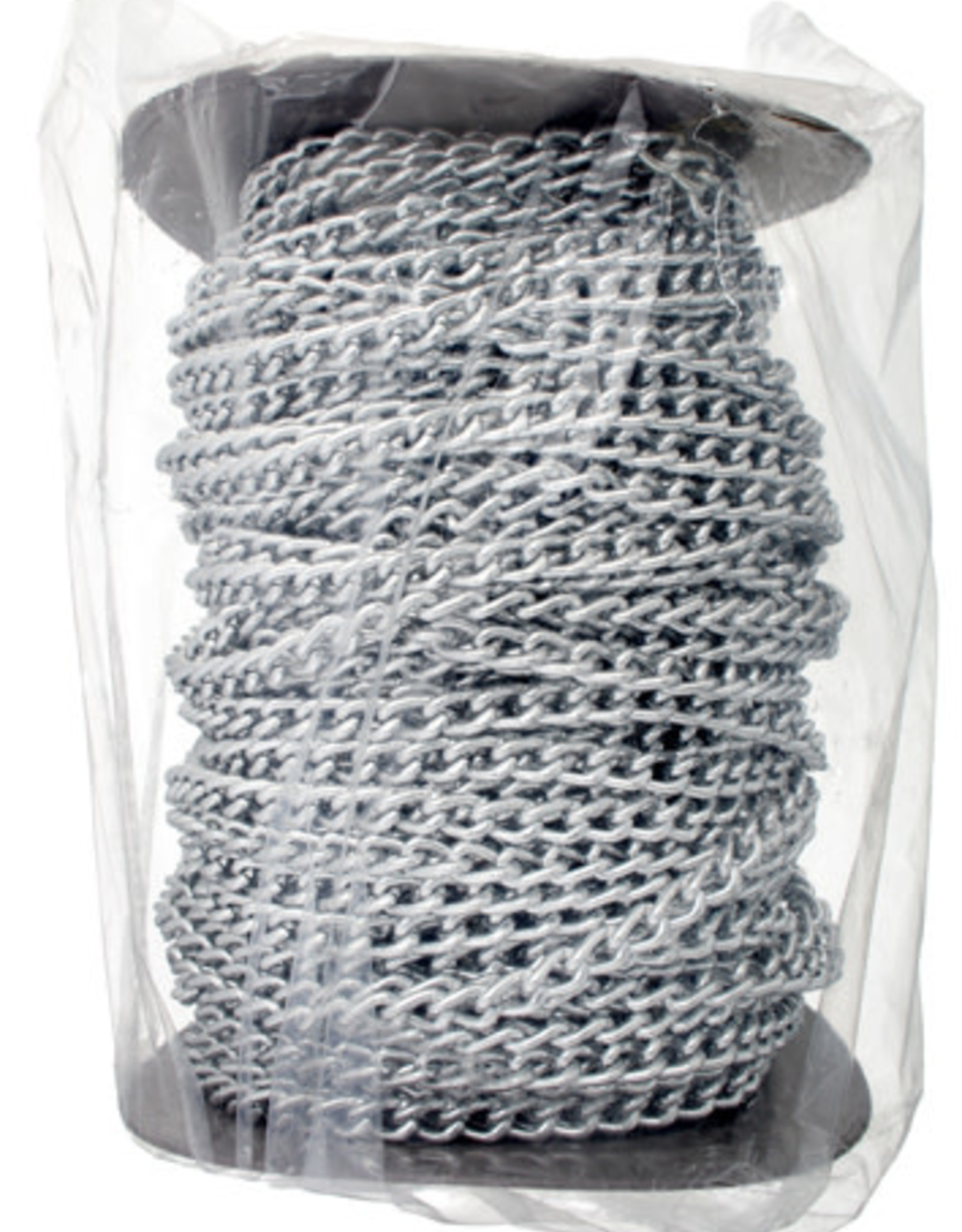 Chain Link Aluminum 6mm Silver (50mtrs)