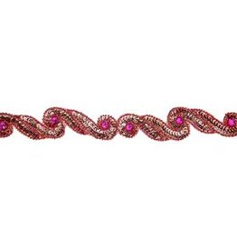 Sequin Trimming (card) Red 3.8 cm Swirl (5 meters)