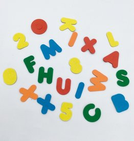 """Selectum Magnetic Foam Letters And Numbers 2"""", 96 Pc/Bag Asst Colours"""