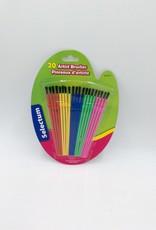 Selectum 20 Pc Artist Brushes Size 1-6 Pastel Color Handle