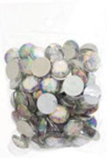 Acrylic Facetted Rhinestone Round (100 pcs)