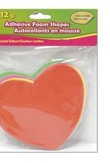 Adhesive Foam Shapes  14 cm Hearts