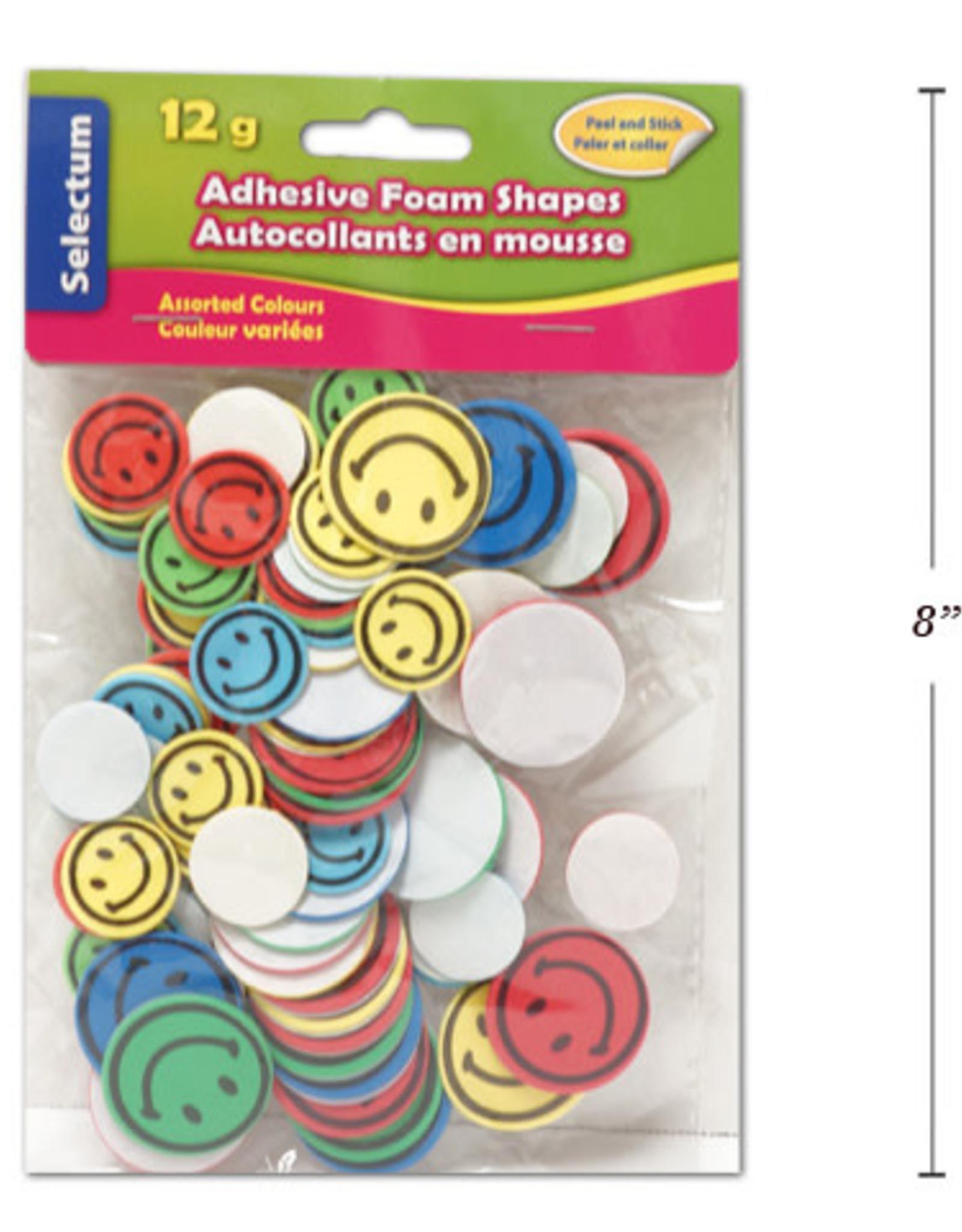 Adhesive Foam Shapes  3 cm Happy Face