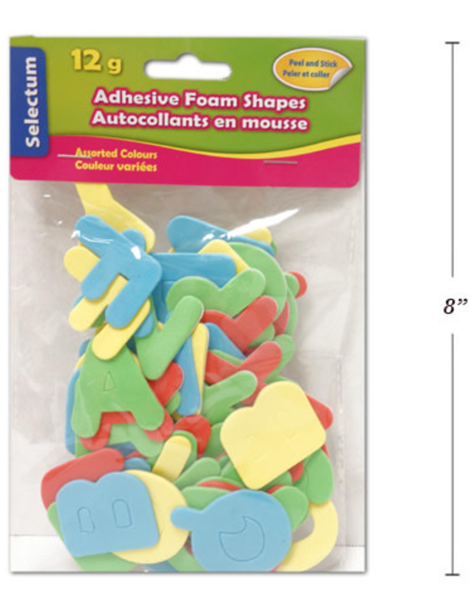 """Selectum Adhesive """"Alphabets"""" Foam Shapes 12 Gms (4 Cm) Asst Colours"""