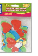 """Selectum Adhesive """"Hearts"""" Foam Shapes 12 Gms ( 2X5 Cm ) Asst Colours"""
