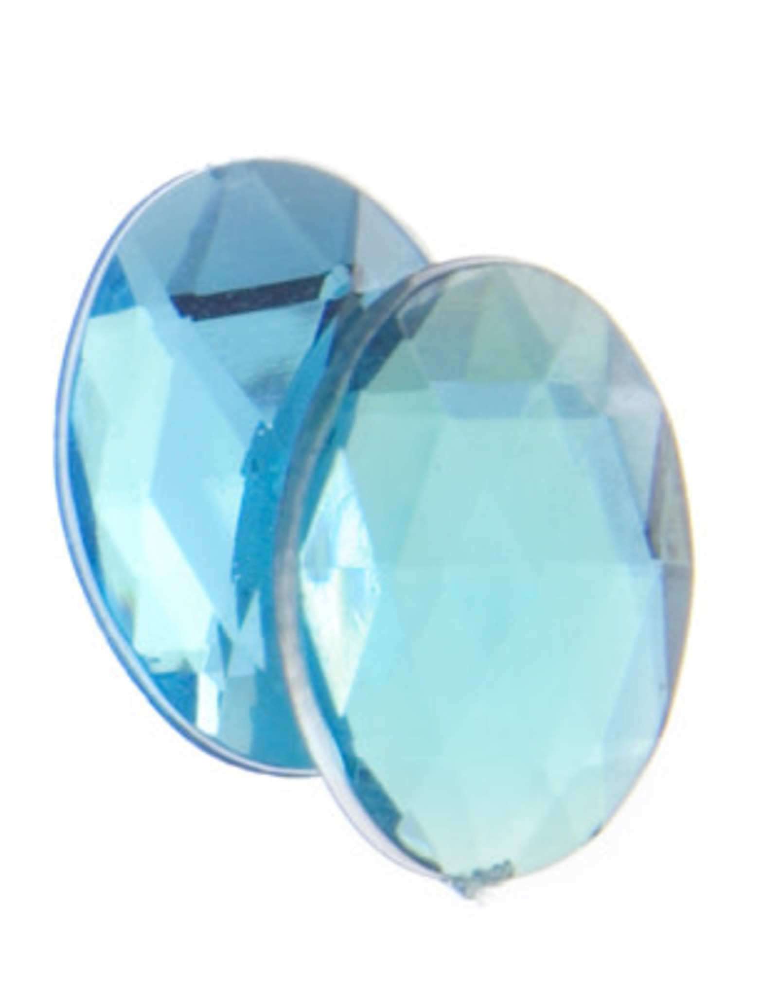 Acrylic Facetted Rhinestone Oval (100 pcs)14x10mm