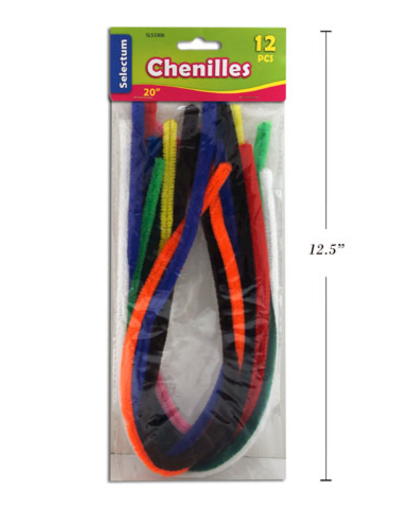 Selectum 20 Inches Chenilles (0.9mm Thick) Assorted Colours (12 Pieces)