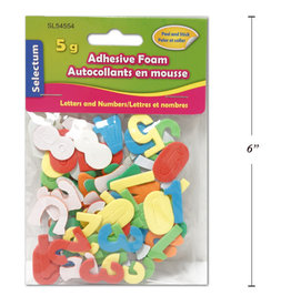 Selectum Adhesive Foam Small Alphabets & Numbers, 5 Gms Asst Colours