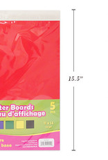 """Selectum 11 X 14"""" Poster Boards Primary Colors 5/Pkg Red, Blue, Green, Yellow, Black"""
