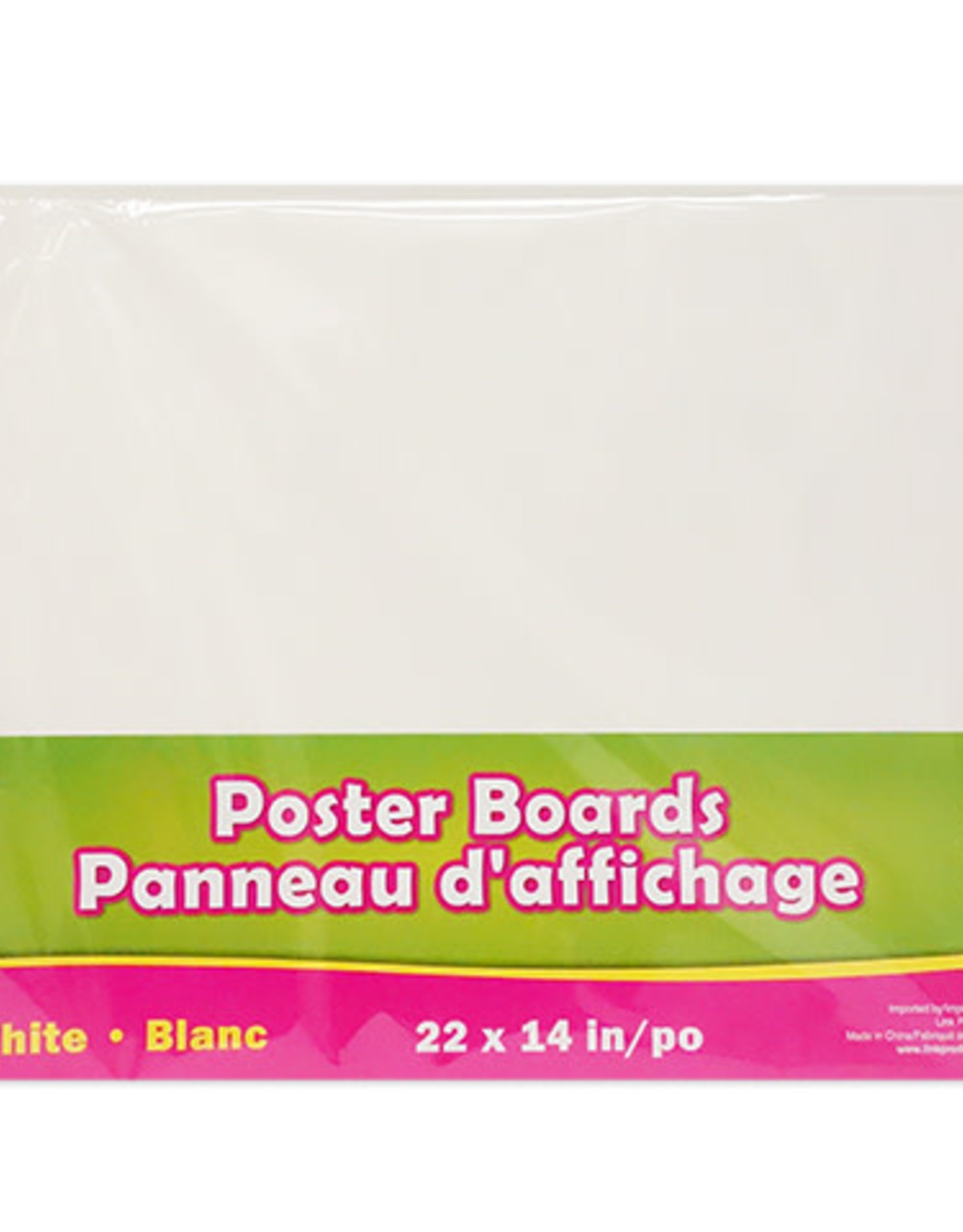 Selectum 22 Inches x 14 Inches White Poster Boards (5 Pieces)