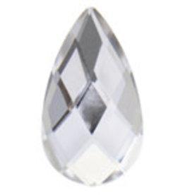 Acrylic Facetted Rhinestone Pear 21x12mm (100 pcs)